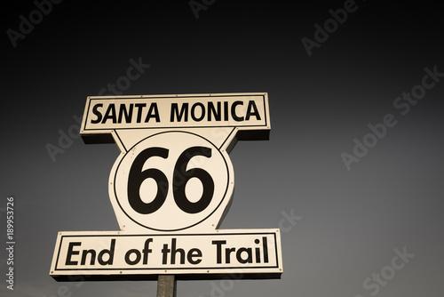 Route 66 arrivée de la route 66