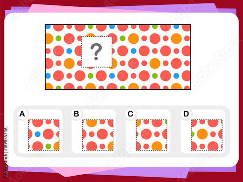 Photo Practice Questions Worksheet for Education and IQ Test [Answer is B]