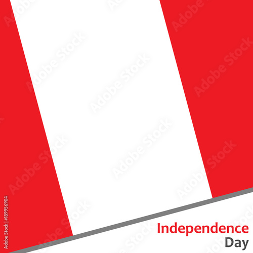Fotografie, Obraz  Peru independence day