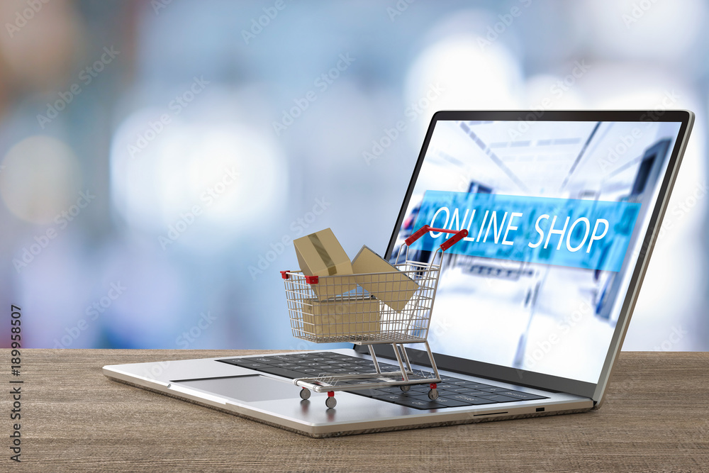 Fototapeta online shopping concept