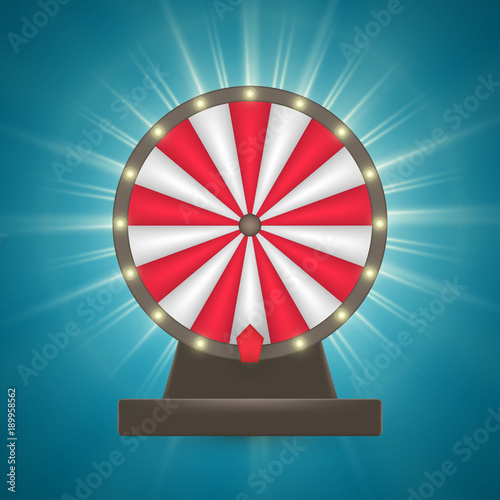Cuadros en Lienzo Wheel of luck vector, gambling symbol, realistic roulette illustration