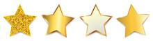 Set Golden Stars - Vector