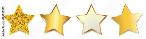 Obraz Set golden stars - vector - fototapety do salonu