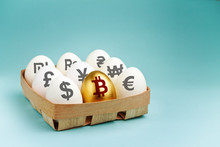 Eggs With Currency Signs In Wo...