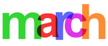 March Colorful Month Of The Ye...