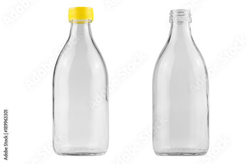 glass bottle isolated on white background - clipping paths