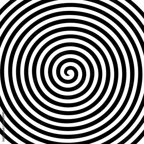 Obraz Black white round abstract vortex hypnotic spiral wallpaper - fototapety do salonu