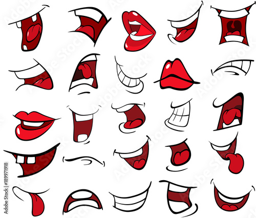 Photo Stands Baby room Illustration of a Set of Mouths
