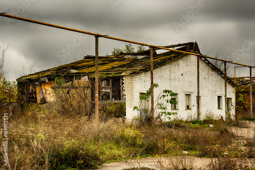 abandoned warehouse and industrial buildings and buildings