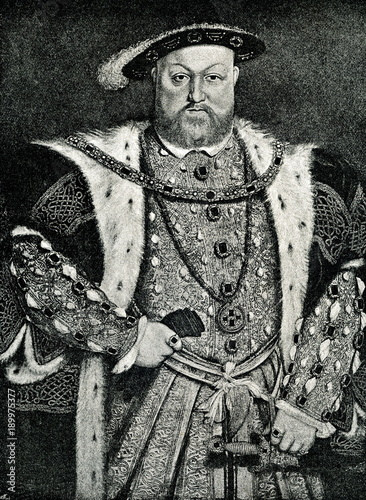 Henry VIII of England, portrait by Hans Holbein the Younger (from Spamers Illust Tapéta, Fotótapéta