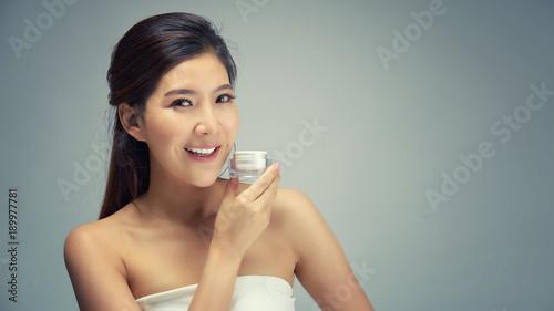 Asian girl facial