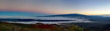 Blick Vom Mauna Kea Zum Mauna ...