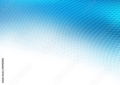 Fotografie, Obraz  Abstract high resolution illustration of blue faded hexagonal/geometric layered design background perfect for Medical, Healthcare and Science and many other Businesses Plenty of copy space
