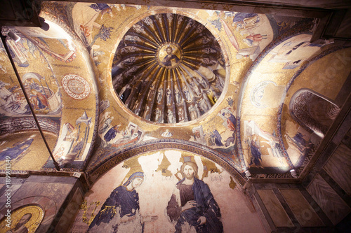 Photo ISTANBUL, TURKEY - JANUARY 15, 2018: Interior and ancient mosaic in the Church o