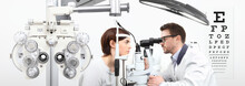 Optometrist Doing Eyesight Wit...