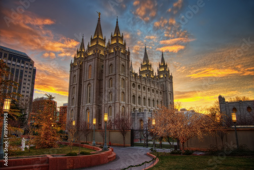 Wall Murals Place of worship Salt Lake City Sunset