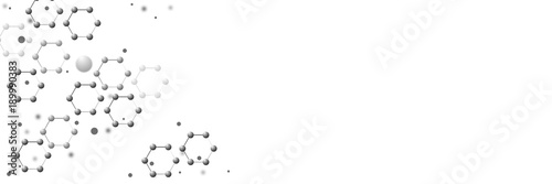 Abstract molecular background.