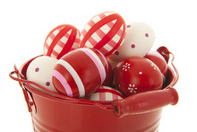 Red Bucket Easter Eggs