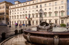 Chigi Palace's Square In Rome,...