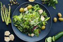Diet Food Meal Rich In Fiber. ...