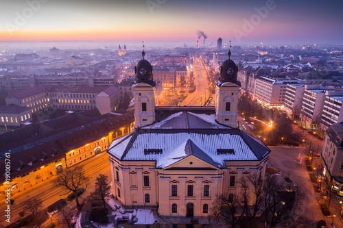 Foto op Plexiglas Kiev Reformed Great Church in Debrecen city, Hungary