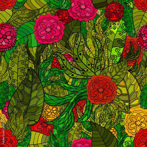 hand-drawn-vector-floral-seamless-patter