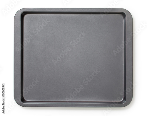 Valokuvatapetti Square baking tray with non-stick coating, top view, close-up.