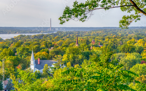 Canvas Print Overhead View of Hudson, Wisconsin