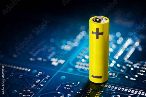 Fototapeta Yellow mignon battery