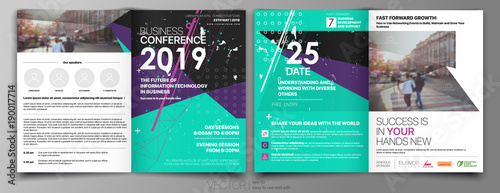 Green with Black Business Template for Fyer Design Portfolio Booklet Brochures Layout Leaflet Magazine. Stock vector