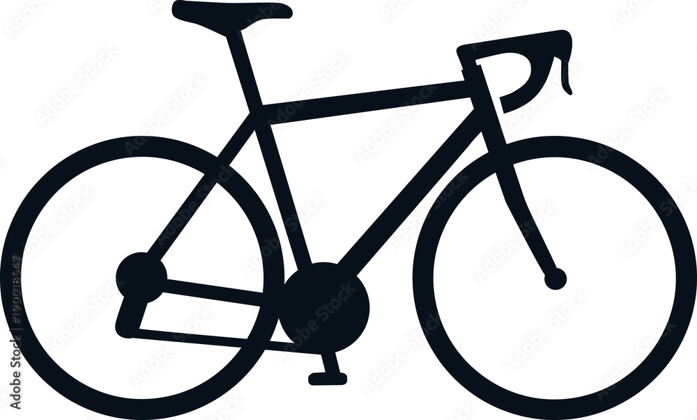 Fototapeta Racing bike icon