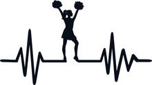 Cheerleader Heartbeat Line