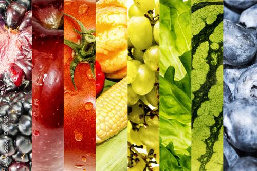 Fresh vegetables and  fruits © Wojciech Skóra