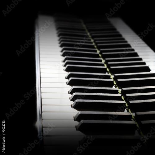 Türaufkleber Musik Piano keyboard. Grand piano keys