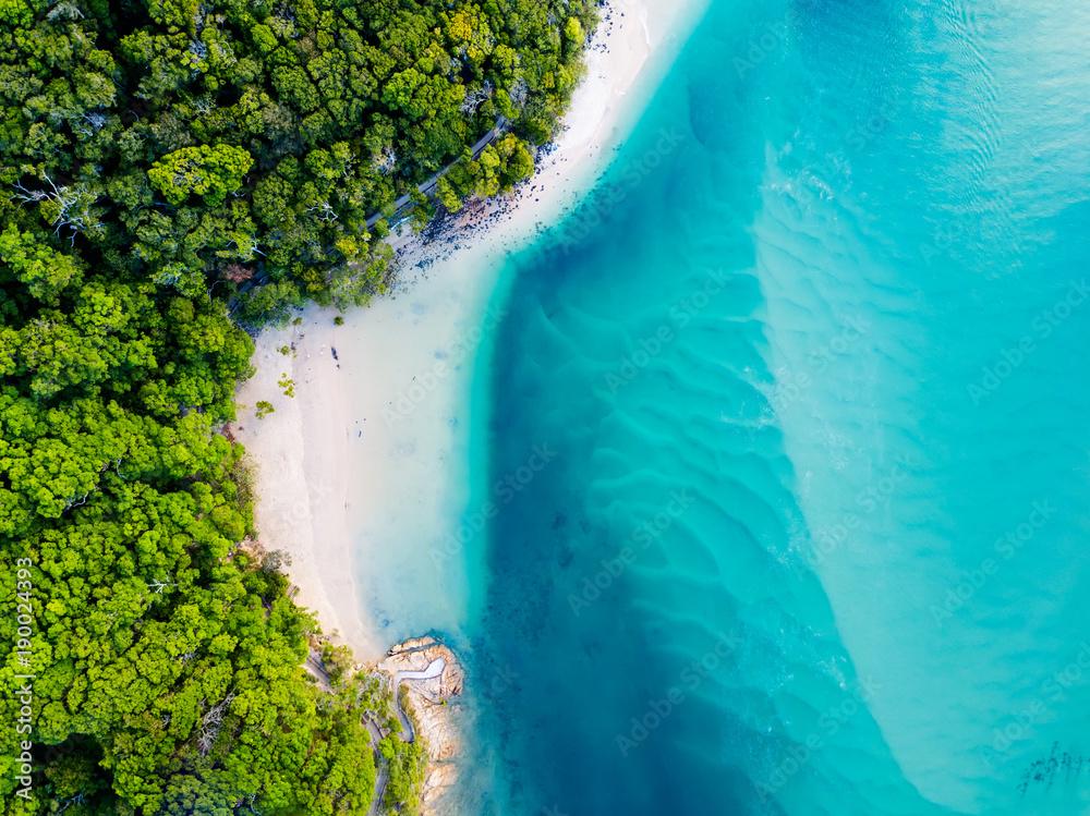 Fototapety, obrazy: A vibrant aerial view of the beach