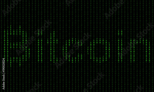 Binary code blockchain  Technology algorithm in decryption