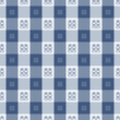 Tartan Vector Patterns, Chinese Blue And White Porcelain's Color, With The Chinese Word 'Double Happiness' For Wedding Celebration