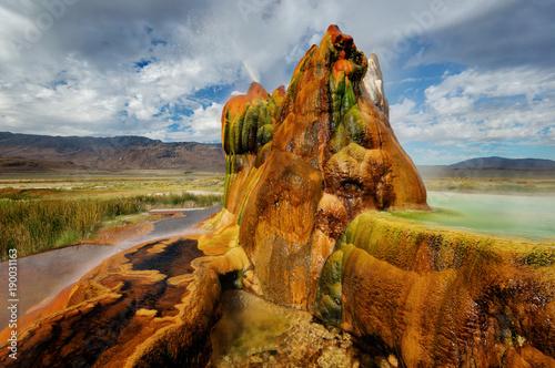 Obraz na plátne Fly Gyser Nevada