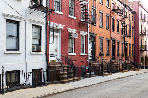 Tuinposter New York City New York City historic Gay Street in the Greenwich Village neighborhood of Manhattan