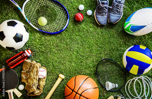 Sports tools Fototapet