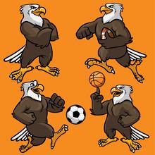 Set Of Eagle Sport Mascot