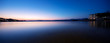 canvas print picture - beautiful scene of lake at sunset