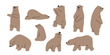 Bear Vector Polar Bear Icon Lo...
