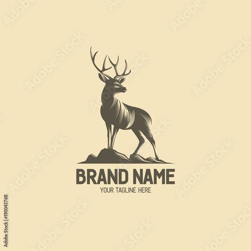Deer Stood on The Hill Logo Wall mural