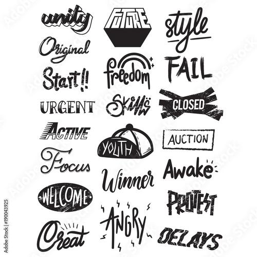 Artwork Typographic Illustration Style Concept © Rawpixel.com
