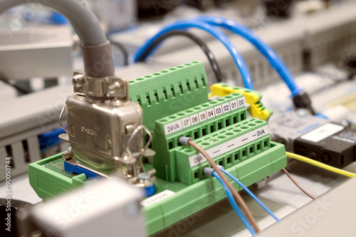 Blurred and de-focus electrical terminal block ( connector
