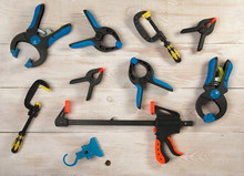 Many Clamps Of Different Color...
