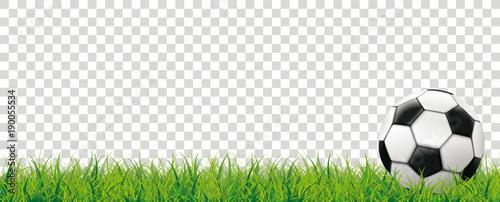 Obraz na plátně Football Grass Bokeh Background Transparent Header