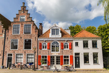 Old Houses At The Cheese Market Sqaure In Edam