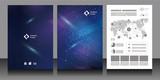 Fototapeta Space - パンフレット・テンプレート・素材
